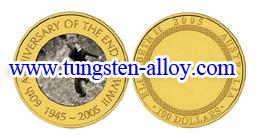 золоті пластини вольфрамового сплаву монет
